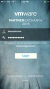 Partner Exchange 2015 Mobile App - iOS - Login Page