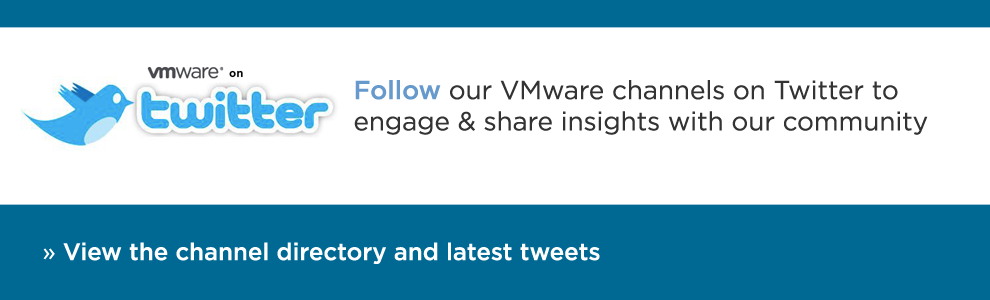 View the VMware Twitter Channel Directory