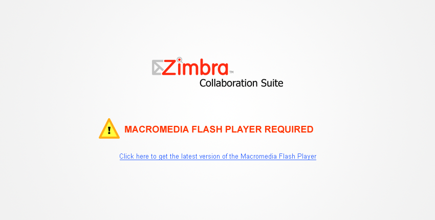 Zimbra Collaboration Suite Flash Demo