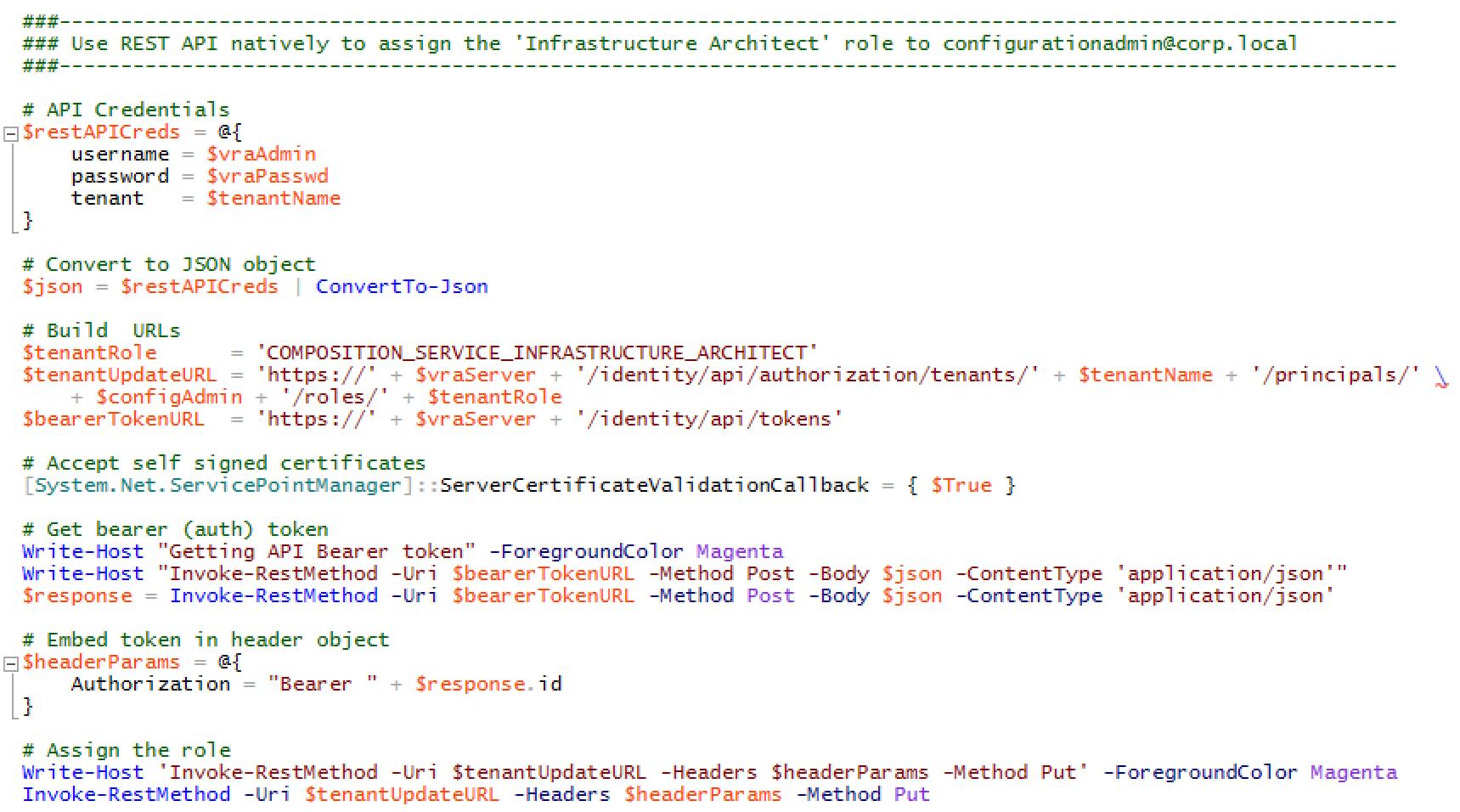 2 7 5 vRealize Automation API
